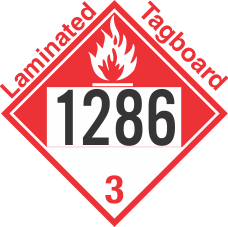 Combustible Class 3 UN1286 Tagboard DOT Placard