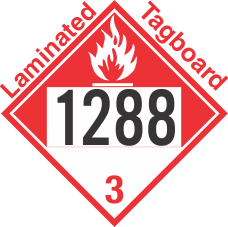 Combustible Class 3 UN1288 Tagboard DOT Placard