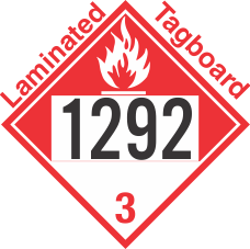 Combustible Class 3 UN1292 Tagboard DOT Placard