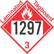 Combustible Class 3 UN1297 Tagboard DOT Placard