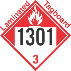 Combustible Class 3 UN1301 Tagboard DOT Placard