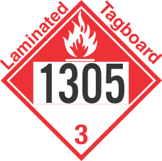 Combustible Class 3 UN1305 Tagboard DOT Placard
