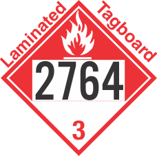 Combustible Class 3 UN2764 Tagboard DOT Placard