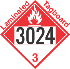 Combustible Class 3 UN3024 Tagboard DOT Placard