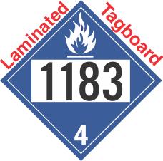 Dangerous When Wet Class 4.3 UN1183 Tagboard DOT Placard