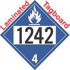 Dangerous When Wet Class 4.3 UN1242 Tagboard DOT Placard