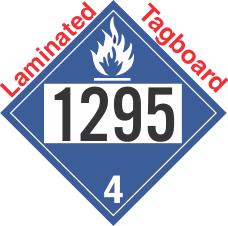 Dangerous When Wet Class 4.3 UN1295 Tagboard DOT Placard