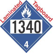 Dangerous When Wet Class 4.3 UN1340 Tagboard DOT Placard