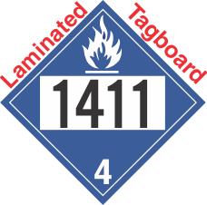 Dangerous When Wet Class 4.3 UN1411 Tagboard DOT Placard