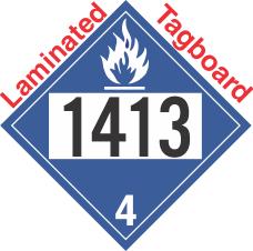 Dangerous When Wet Class 4.3 UN1413 Tagboard DOT Placard