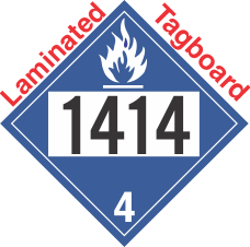 Dangerous When Wet Class 4.3 UN1414 Tagboard DOT Placard