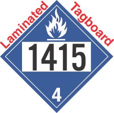 Dangerous When Wet Class 4.3 UN1415 Tagboard DOT Placard
