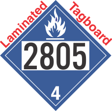 Dangerous When Wet Class 4.3 UN2805 Tagboard DOT Placard