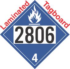 Dangerous When Wet Class 4.3 UN2806 Tagboard DOT Placard