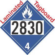 Dangerous When Wet Class 4.3 UN2830 Tagboard DOT Placard