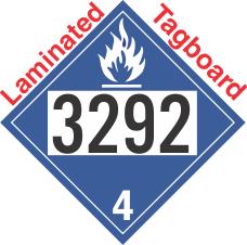 Dangerous When Wet Class 4.3 UN3292 Tagboard DOT Placard