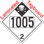 Inhalation Hazard Class 2.3 UN1005 Tagboard DOT Placard