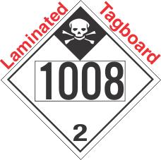 Inhalation Hazard Class 2.3 UN1008 Tagboard DOT Placard
