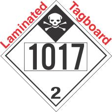 Inhalation Hazard Class 2.3 UN1017 Tagboard DOT Placard
