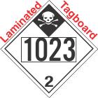 Inhalation Hazard Class 2.3 UN1023 Tagboard DOT Placard