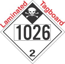 Inhalation Hazard Class 2.3 UN1026 Tagboard DOT Placard