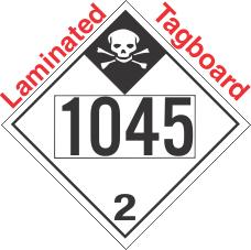 Inhalation Hazard Class 2.3 UN1045 Tagboard DOT Placard