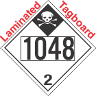 Inhalation Hazard Class 2.3 UN1048 Tagboard DOT Placard