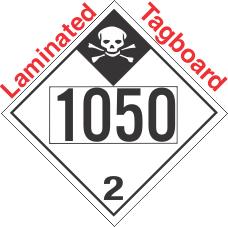 Inhalation Hazard Class 2.3 UN1050 Tagboard DOT Placard