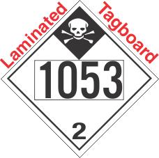 Inhalation Hazard Class 2.3 UN1053 Tagboard DOT Placard