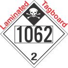 Inhalation Hazard Class 2.3 UN1062 Tagboard DOT Placard