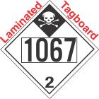 Inhalation Hazard Class 2.3 UN1067 Tagboard DOT Placard