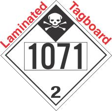 Inhalation Hazard Class 2.3 UN1071 Tagboard DOT Placard