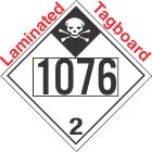 Inhalation Hazard Class 2.3 UN1076 Tagboard DOT Placard