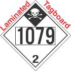 Inhalation Hazard Class 2.3 UN1079 Tagboard DOT Placard