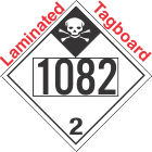 Inhalation Hazard Class 2.3 UN1082 Tagboard DOT Placard