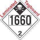 Inhalation Hazard Class 2.3 UN1660 Tagboard DOT Placard