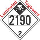 Inhalation Hazard Class 2.3 UN2190 Tagboard DOT Placard