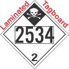 Inhalation Hazard Class 2.3 UN2534 Tagboard DOT Placard