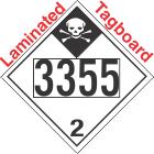 Inhalation Hazard Class 2.3 UN3355 Tagboard DOT Placard