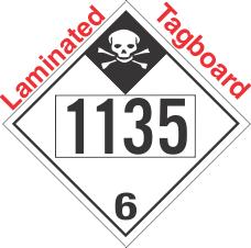 Inhalation Hazard Class 6.1 UN1135 Tagboard DOT Placard