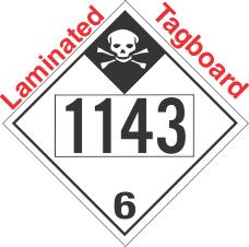 Inhalation Hazard Class 6.1 UN1143 Tagboard DOT Placard