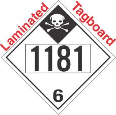 Inhalation Hazard Class 6.1 UN1181 Tagboard DOT Placard