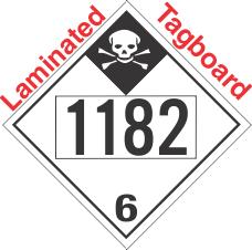 Inhalation Hazard Class 6.1 UN1182 Tagboard DOT Placard