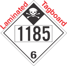 Inhalation Hazard Class 6.1 UN1185 Tagboard DOT Placard