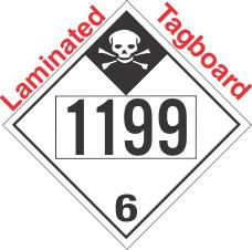 Inhalation Hazard Class 6.1 UN1199 Tagboard DOT Placard