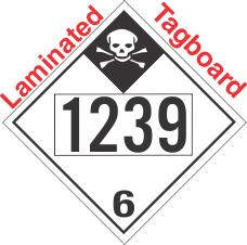 Inhalation Hazard Class 6.1 UN1239 Tagboard DOT Placard