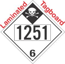 Inhalation Hazard Class 6.1 UN1251 Tagboard DOT Placard