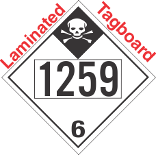 Inhalation Hazard Class 6.1 UN1259 Tagboard DOT Placard