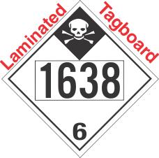 Inhalation Hazard Class 6.1 UN1638 Tagboard DOT Placard