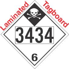 Inhalation Hazard Class 6.1 UN3434 Tagboard DOT Placard